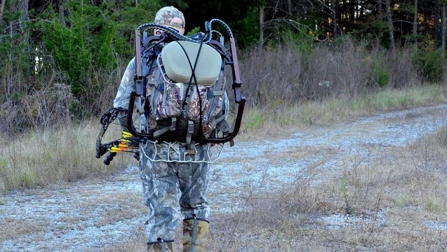 Hunter in camoflage