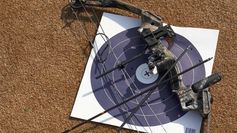 target shooting arrow and bow